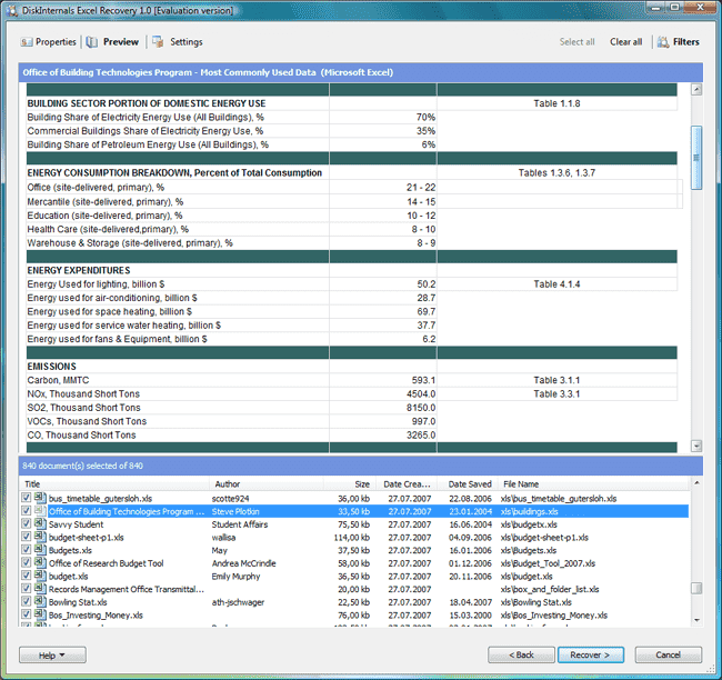 Excel Recovery Recover Deleted Excel Spreadsheets Xls Xlsx
