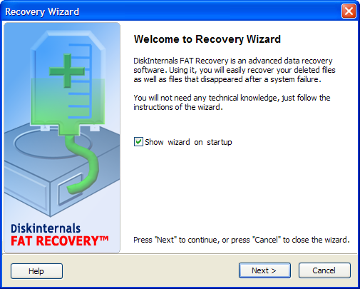 FAT data Recovery. Unformat and Restore