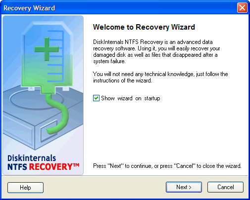 NTFS data Recovery. Unformat and Restore damaged drive