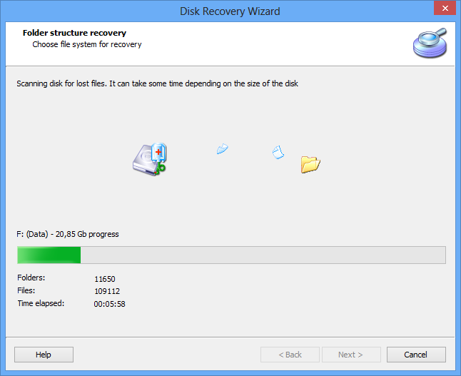 Diskinternal partition recovery
