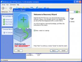 Utiliser DiskInternals FAT Recovery - pour récupérer les fichiers dans le système de fichiers FAT.
