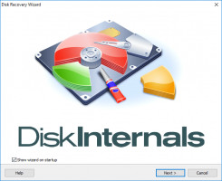 DiskInternals NTFS Recovery - disk recovery wizard window