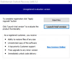 You can launch Outlook Recovery software