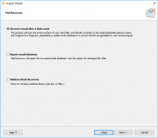Select the recovery mode in Outlook Recovery