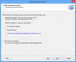 Desformatear la unidad. Restaurar archivos desde NTFS