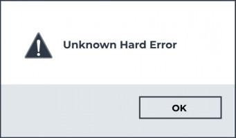 Unknown Hard Error message.