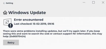0x80070424 error.