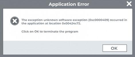 0xc0000409 error.