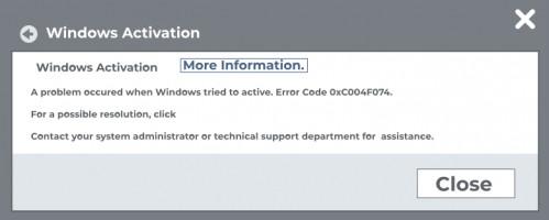 0xc004f074 error.