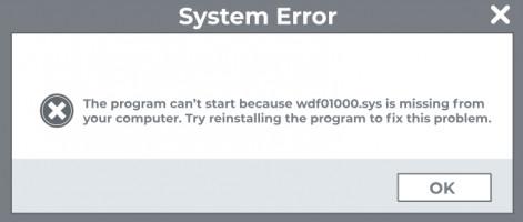wdf01000.sys BSOD error