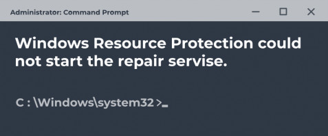 Windows resource protection could not start the repair service.