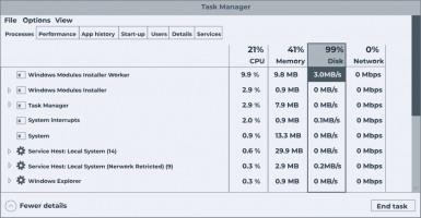 Windows Modules Installer Worker high CPU.