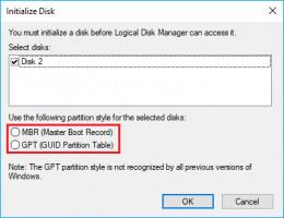 Style de partition GPT vs MBR.