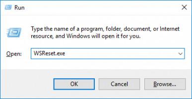 Use Clear cache to remove 0x80131500 error