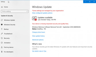 New updates for Windows are available.
