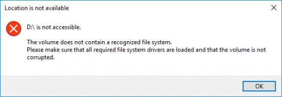 Le disque n'est pas accessible.