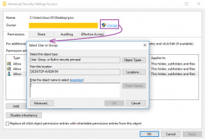 Use Advanced menu in the file's proreties to fix folder keeps reverting to read only issue
