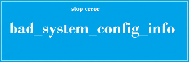 Mala información de configuración del sistema en Windows 10.