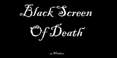 Conoce la pantalla negra de la muerte.