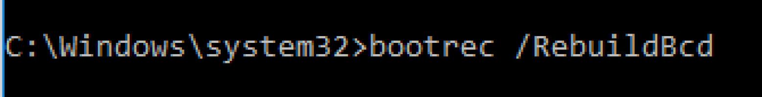 Step3. Use BOOTREC rebuild bcd to fix 0xc0000185 error
