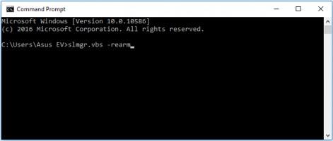 Use CMD to fix the error code 0xc004c003.