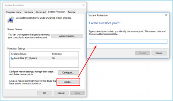 Create a Restore Point to fix 0xc0000409 issue