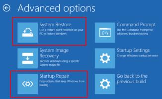 Startup Repair tool to fix stuck Windows update