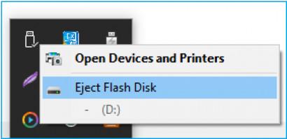 Expulsar y volver a expulsar el dispositivo con la barra de tareas si el dispositivo está actualmente en uso problema.
