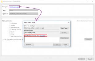 Changer le propriétaire du dossier - étape 3 - ajouter un utilisateur.