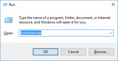 Use mdsched to perform Windows memory diagnostic