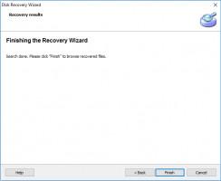 Disk Recovery Wizard - el escaneo está hecho.