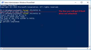Formater la clé USB en FAT32 avec PowerShell sous Windows 10