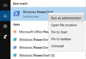 Entrez dans PowerShell