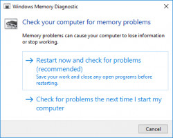Use Windows Memory Diagnostic Tool to fix Stop Code Memory Management BSOD Error
