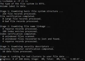 Using the CHKDSK utility.