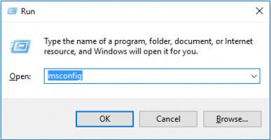 Use msconfig to remove 0x80131500 error