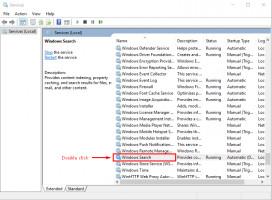 en la ventana de Servicios - selecciona la búsqueda de Windows