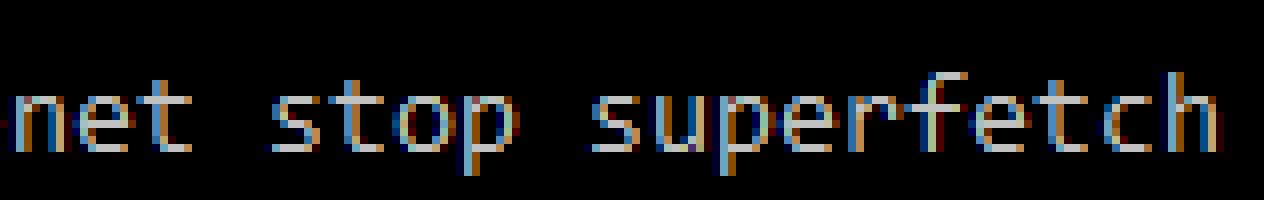 net stop superfetch
