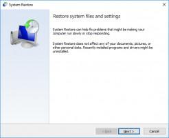 Use System Restore to fix 0xc0000185 error