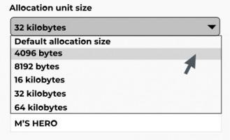 Unit size.