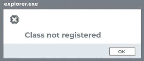 Class not registered.
