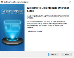 DiskInternals Uneraser - setup window.