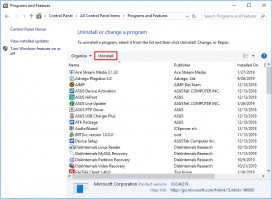 Uninstall app to fix d3dcompiler_43.dll is missing Windows 10 issue